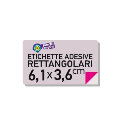 Etichette adesive 6,1x3,6