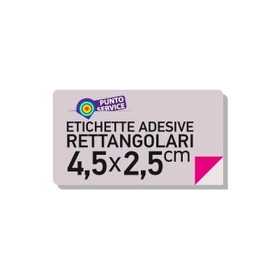 Etichette adesive 4,5x2,5