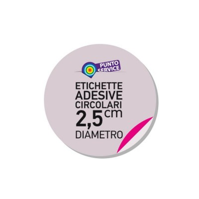 Etichette adesive diametro 2,5