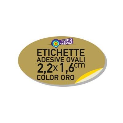Etichette adesive oro 2,2x1,6