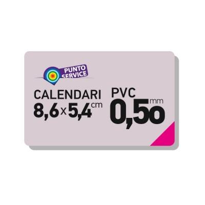 Calendari tascabili 86x54mm su card PVC 0,50mm