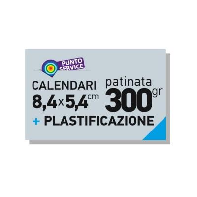 Calendari tascabili 84x54mm patinata 300gr plastificati