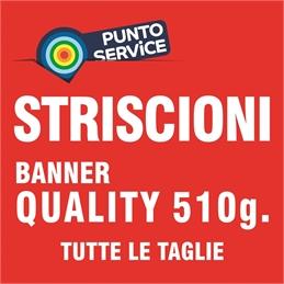PUNTO SERVICE - STRISCIONI su BANNER QUALITY 510g.