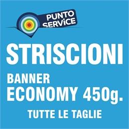 PUNTO SERVICE - STRISCIONI su BANNER ECONOMY 450g.