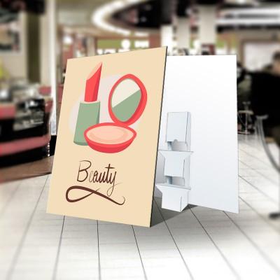 Espositore 100x140 con piedino in Carton Board  (su easy HB 1cm)